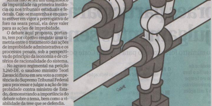"""Medina Osório, em Folha de S. Paulo: """"Foro privilegiado em ações de improbidade"""""""